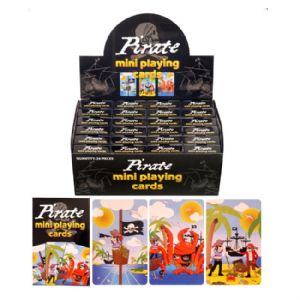 24 x Packs Of Pirates Themed Mini Playing Cards - Wholesale Bulk Buy Party Bag Fillers